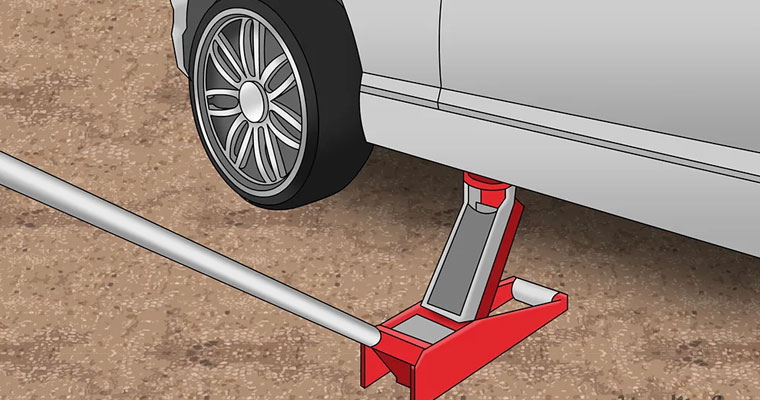 how to use floor jack